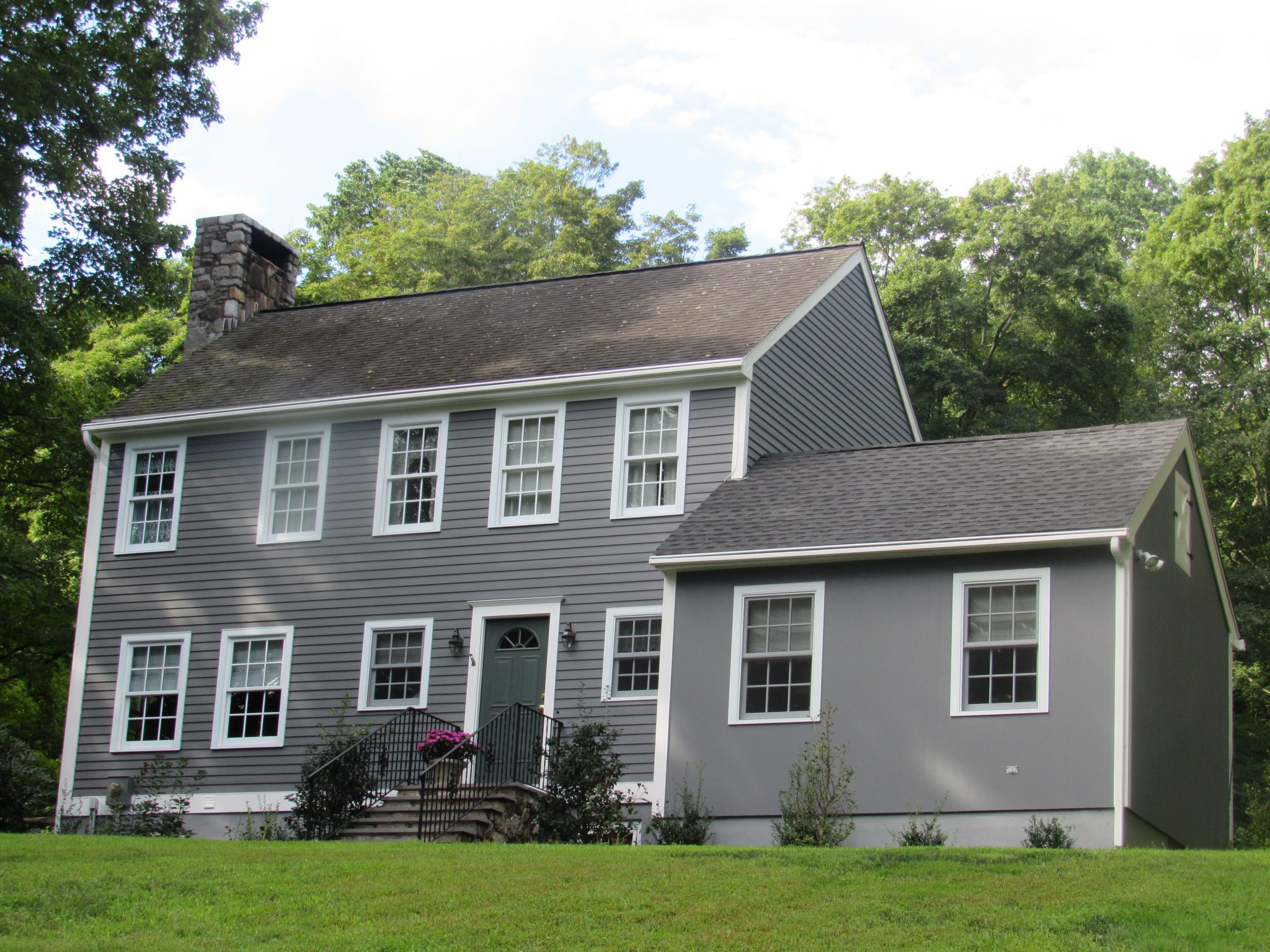 exterior painting gray siding