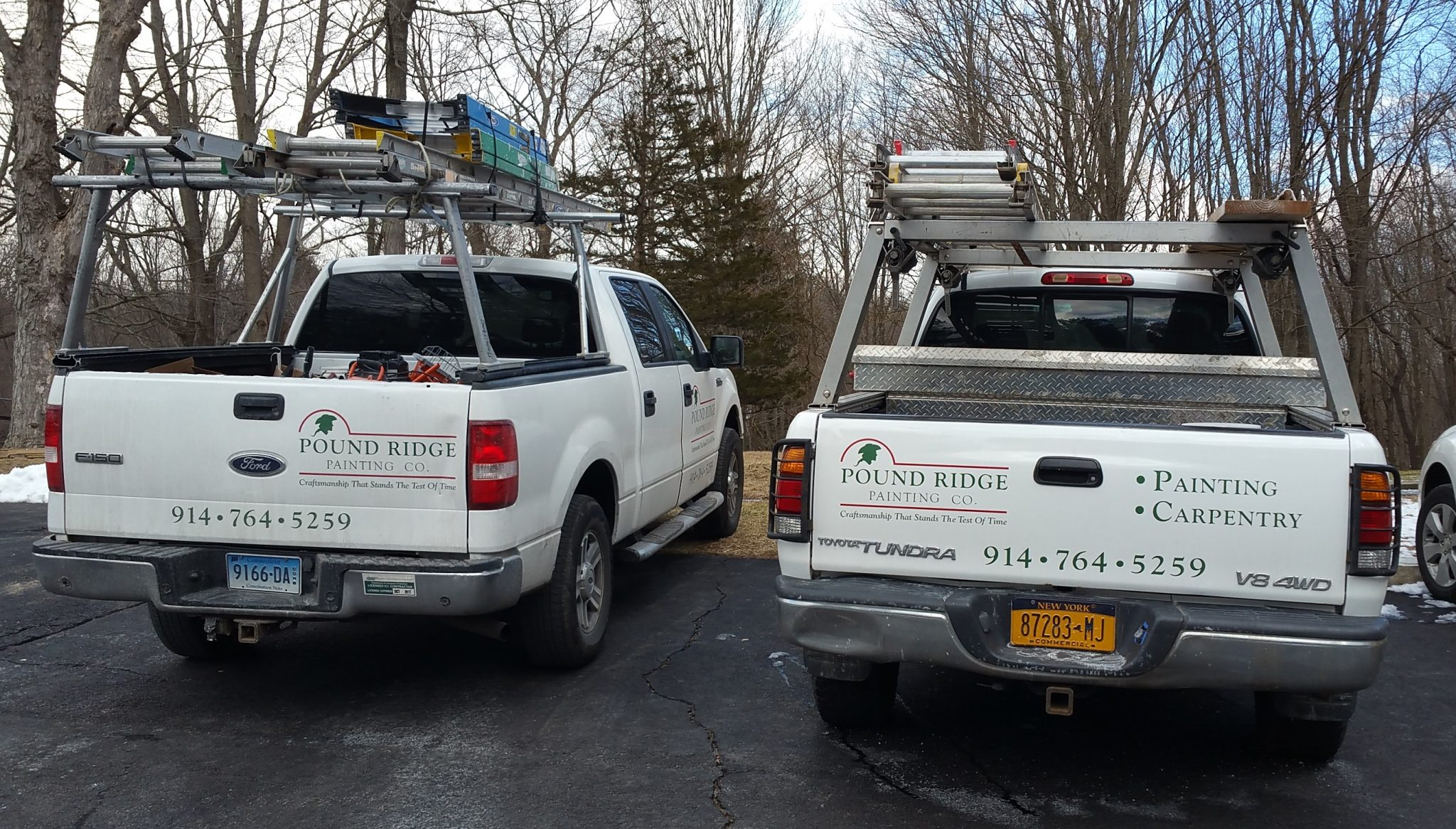 Pound Ridge Painting Company Trucks