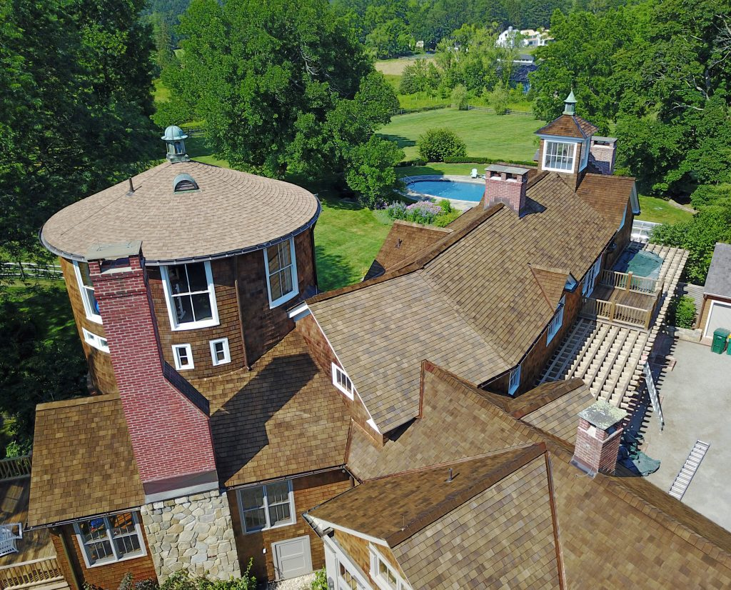 Pound Ridge Painting Co Cedar Roof Restoration