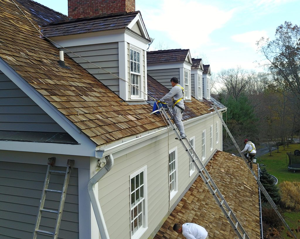 Pound Ridge Painting Co Cedar Roof Repair