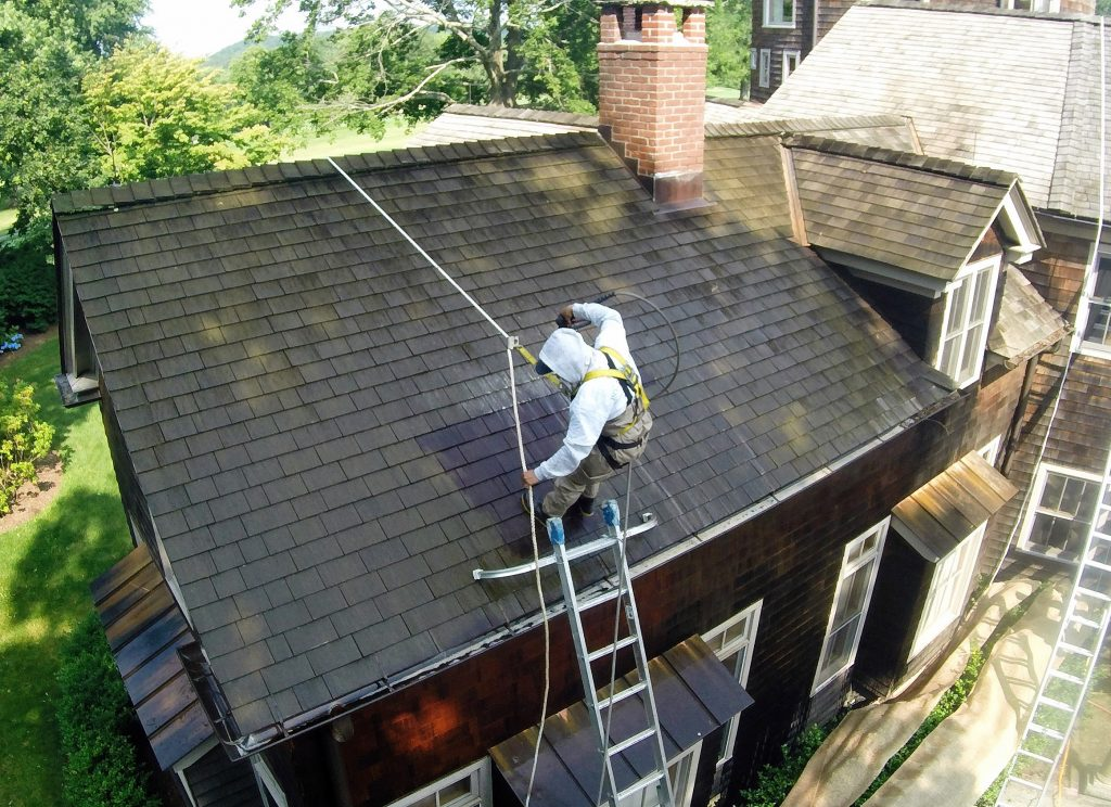 Pound Ridge Painting Co Cedar Roof Cleanse