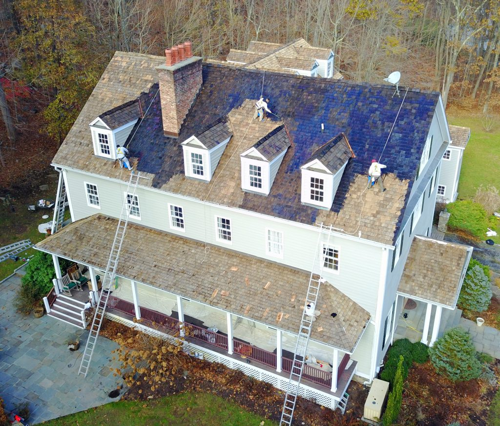 Pound Ridge Painting Co Cedar Roof Treatment