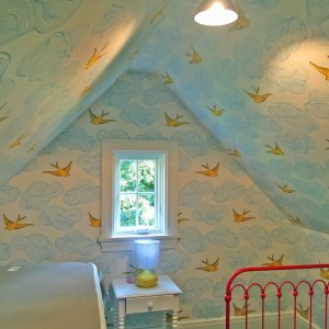 Wallpaper in nursery